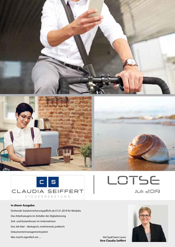 Lotse, Steuerberatung Claudia Seiffert, Dierdorf, Juli 2019, Beratung und Kennenlerntermin kostenfrei